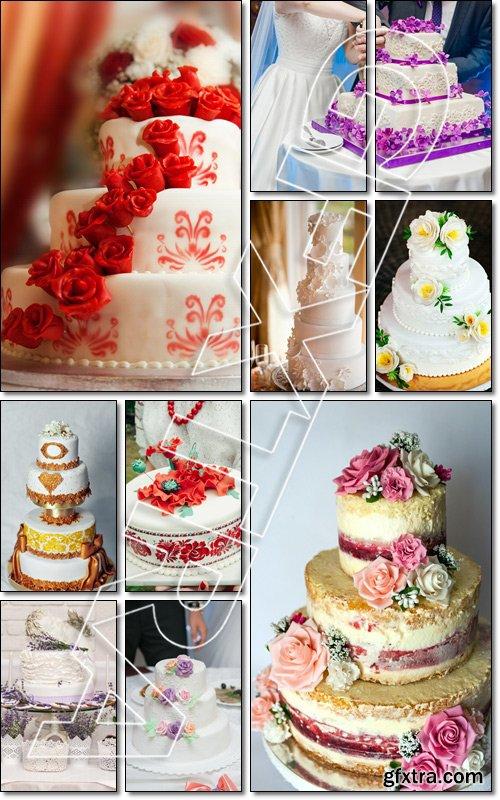 Handmade wedding cake - Stock photo