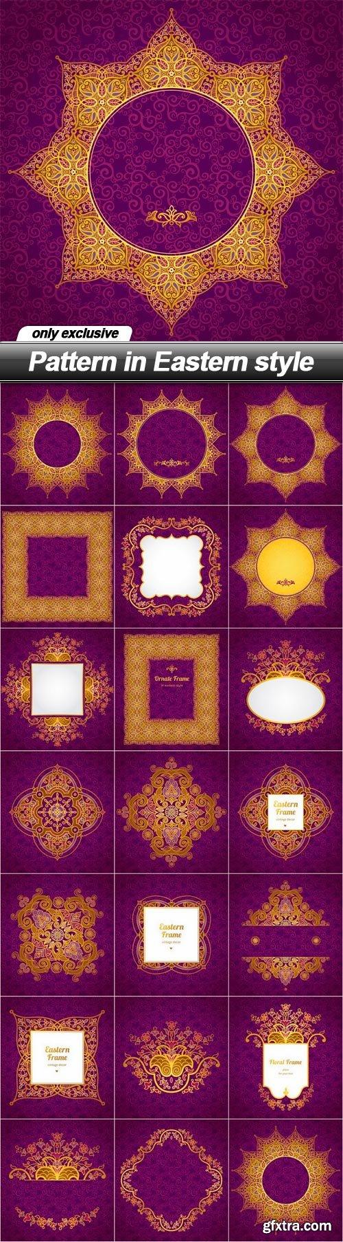 Pattern in Eastern style - 20 EPS