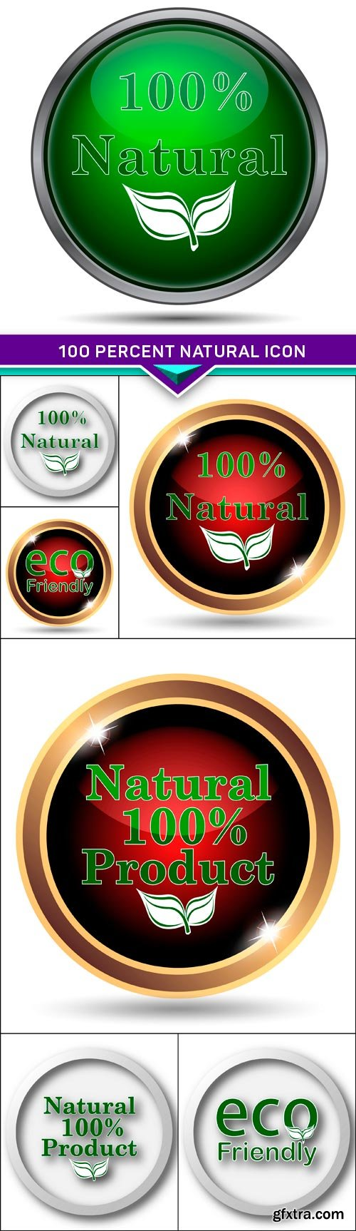 100 percent natural icon 7x JPEG