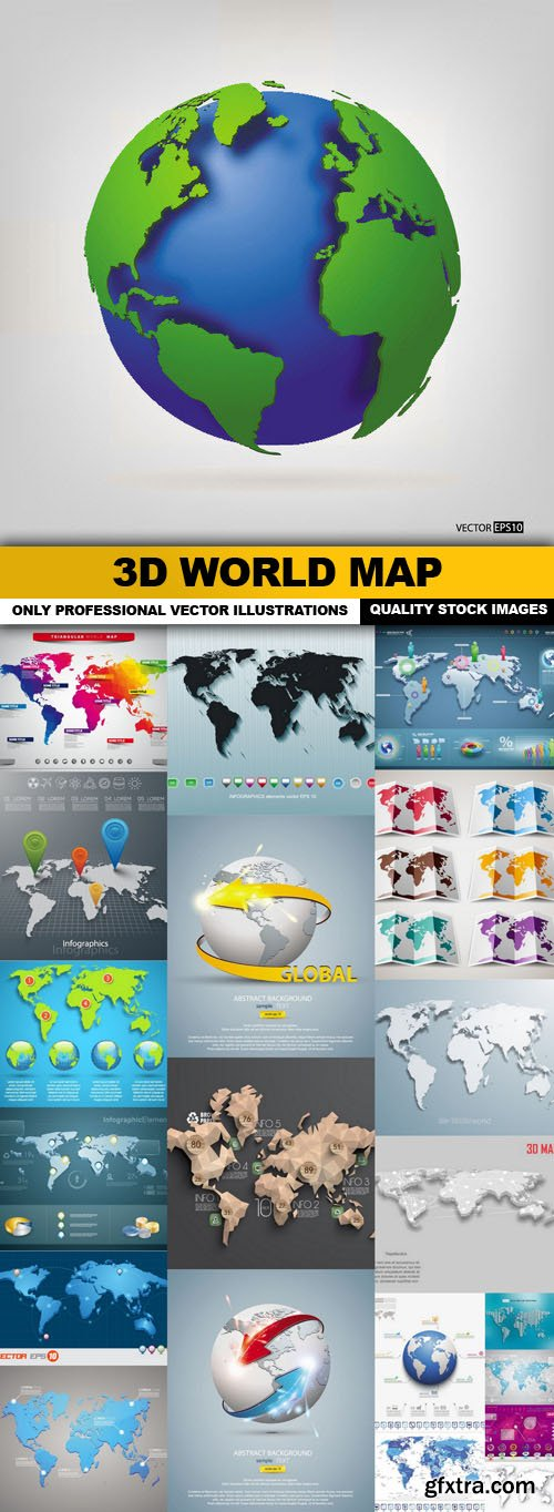 Maps page 4 vector photoshop psdafter effects tutorials 3d world map 22 vector gumiabroncs Images