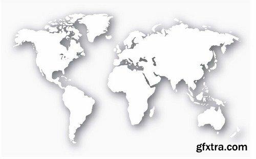 3d world map 22 vector gfxtra 3d world map 22 vector gumiabroncs Choice Image