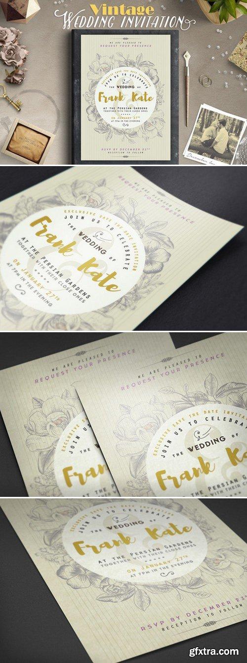 CM - Vintage Wedding Invitation I 408248