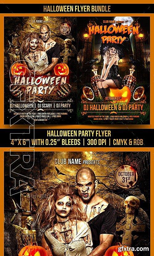 GraphicRiver - Halloween Flyer Bundle 13036572