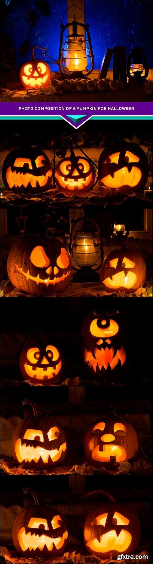 Photo composition of a pumpkin for Halloween 6x JPEG