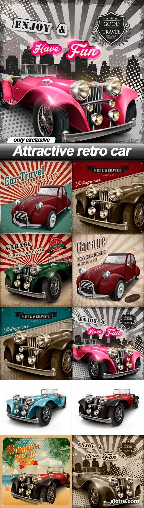 Attractive retro car - 10 EPS