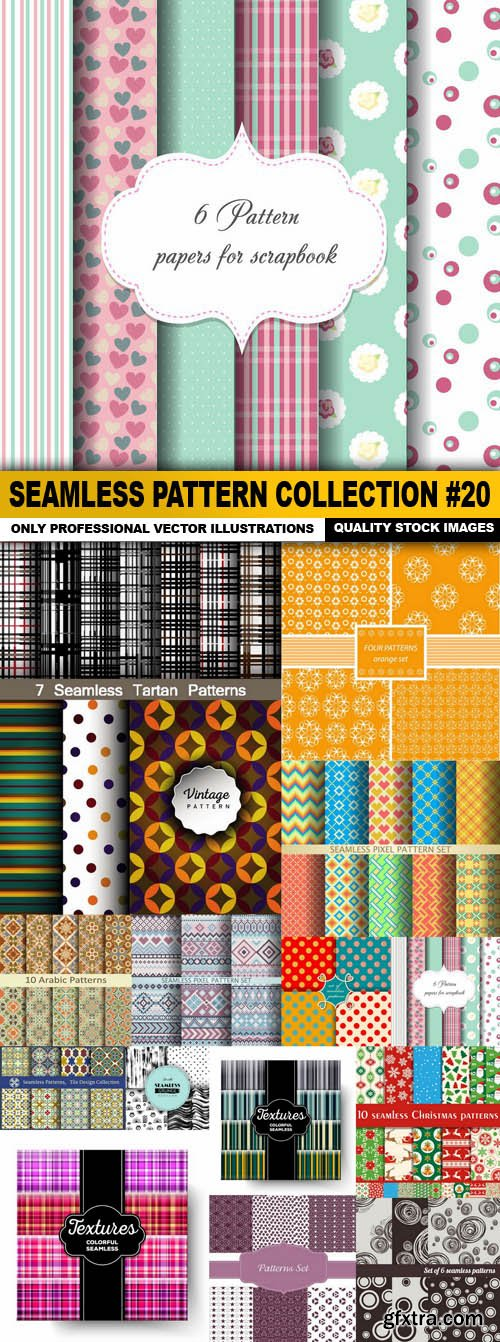 Seamless Pattern Collection #20 - 15 Vector