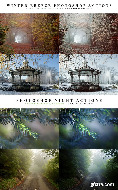 Photoshop Actions - Winter Breeze & Night