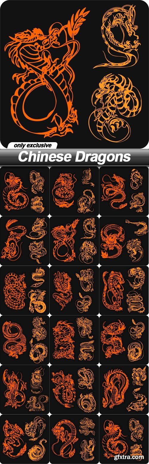 Chinese Dragons - 17 EPS