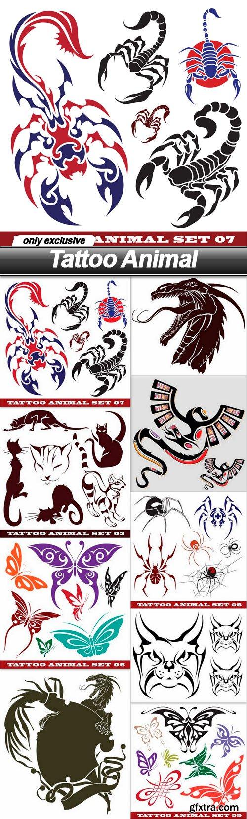 Tattoo Animal - 9 EPS