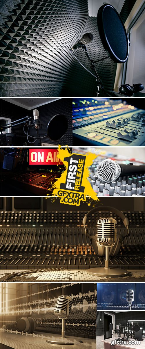 Stock Image In radio studio