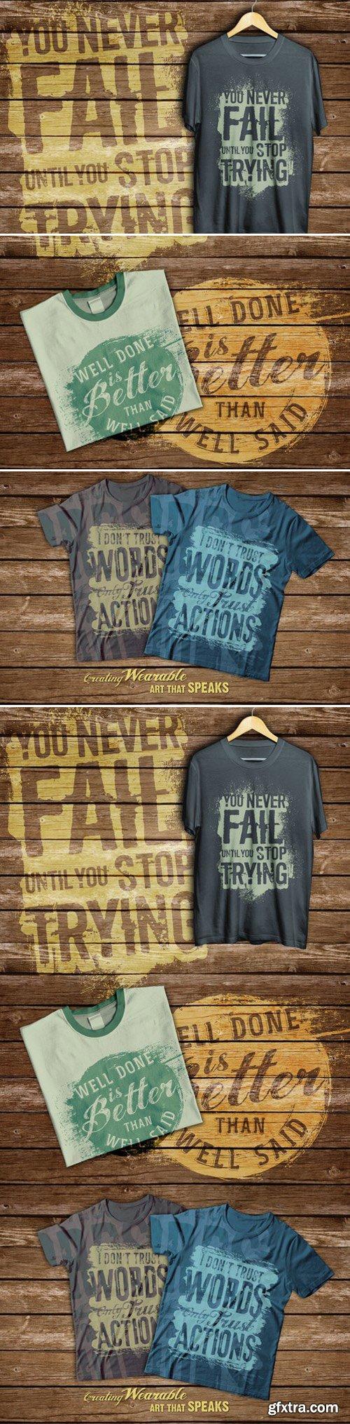 CM - Quotes T-shirt Design 411842