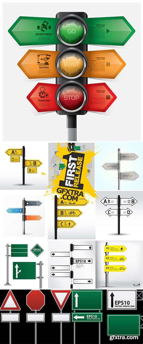 Stock Modern road sign Design template