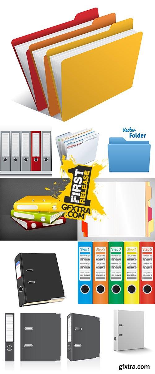 Stock office folders vector
