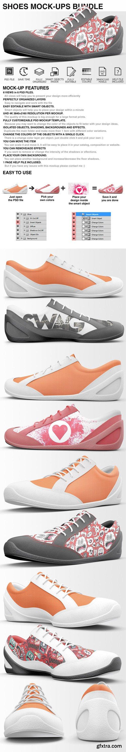 CM - Sneakers Shoes Mockups Bundle 401876
