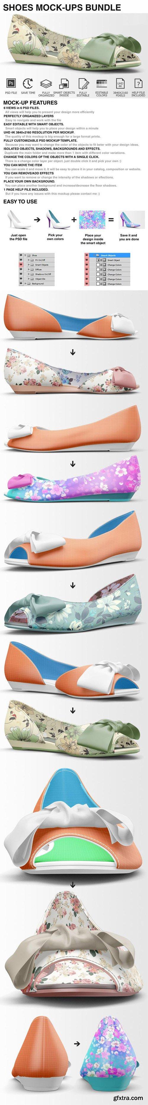CM - Woman Shoes Mockups Bundle 401878