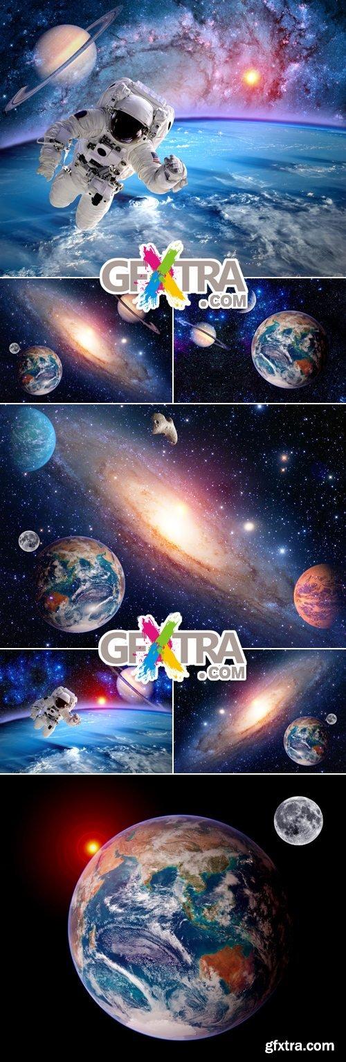 Stock Photo - Space, Earth & Astronaut