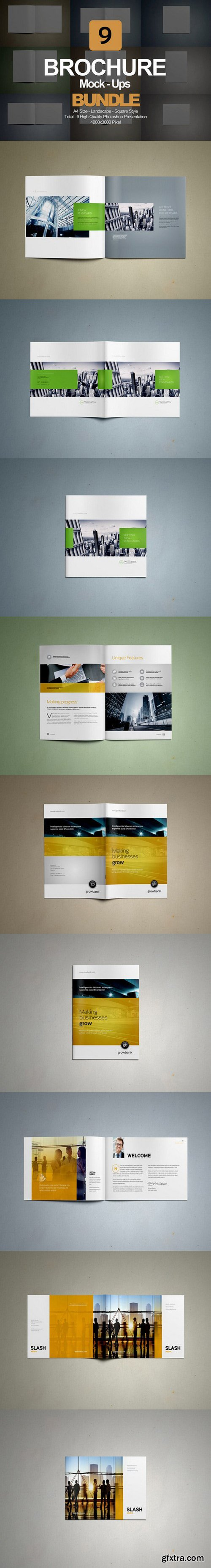 CM - Brochure Mock- Up Bundle 9 in 1 416402