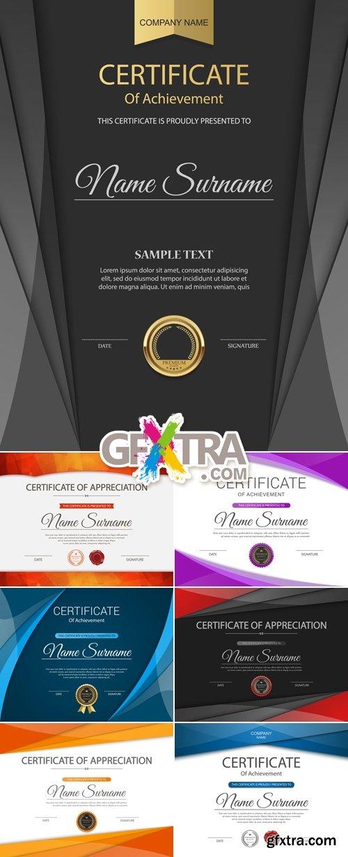 Modern Certificates Vector