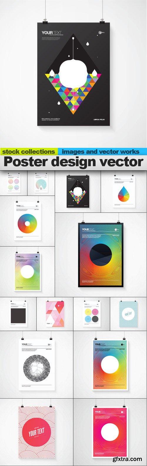 Poster design vector, 15 x EPS