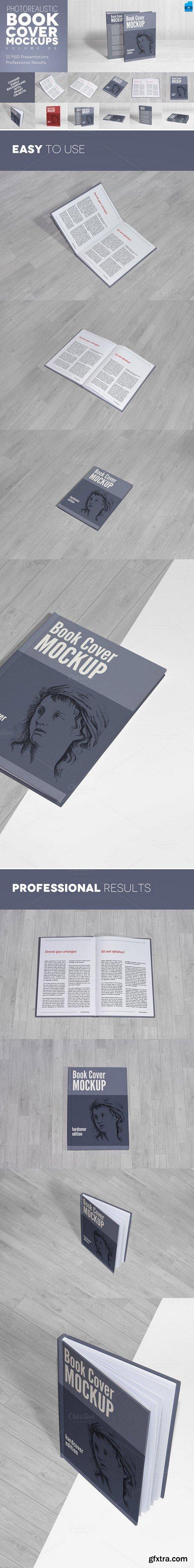 CM - Book Cover Mockups v5 - Hardcover 418715