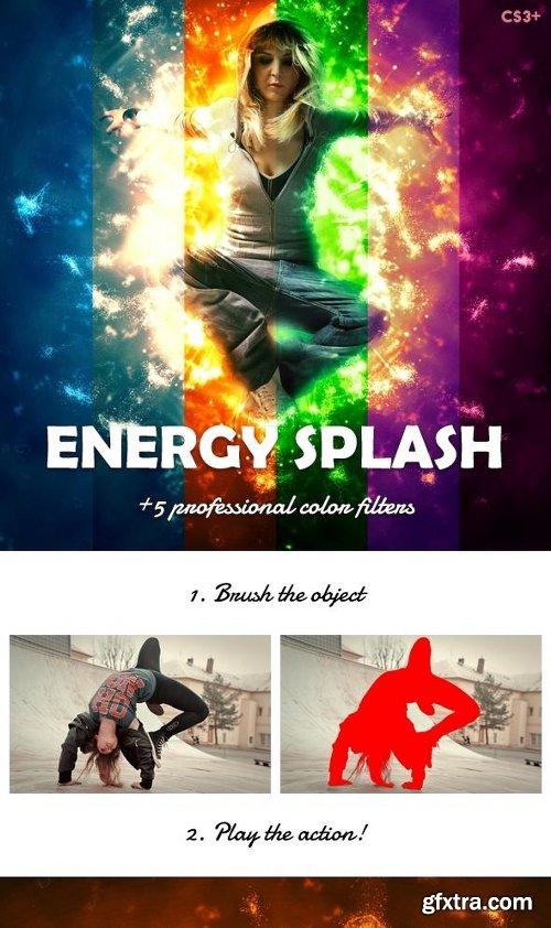 Graphicriver Energy Splash Photoshop Action 13402926
