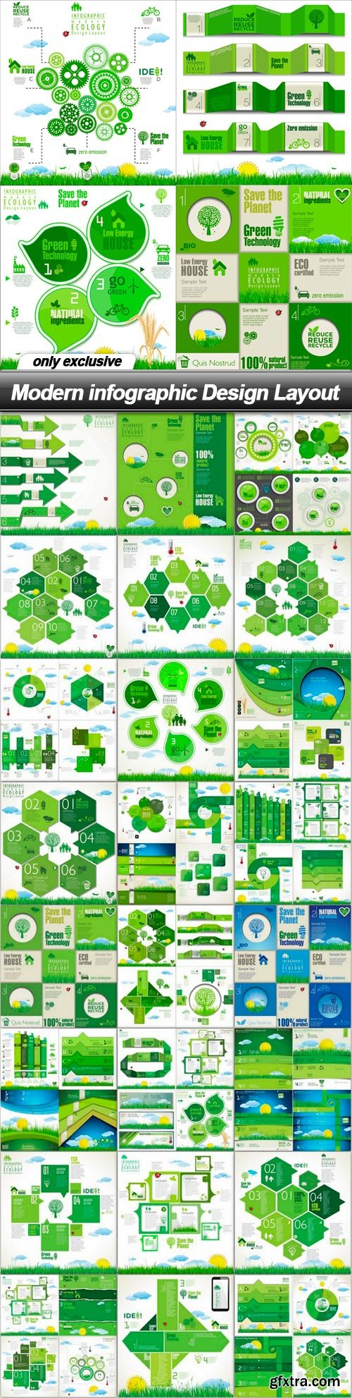 Modern infographic Design Layout - 25 EPS