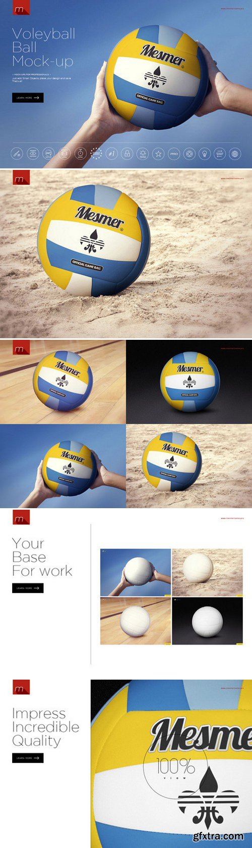 CM - Volleyball Ball Mock-up 424043