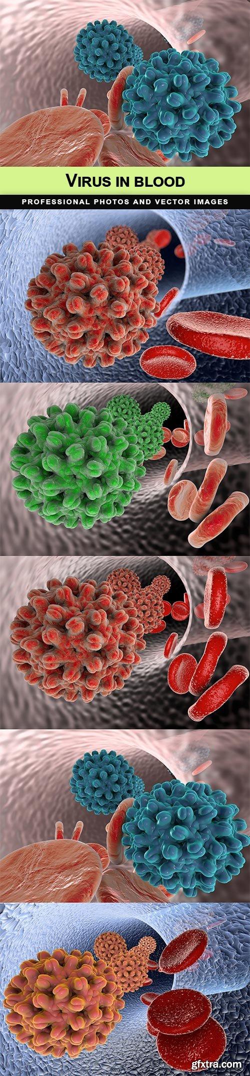 Virus in blood - 5 UHQ JPEG