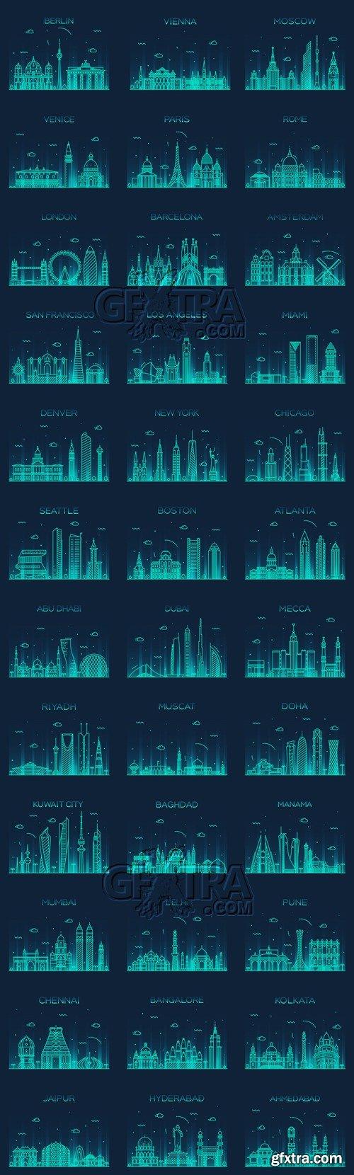 City Skyline Vector 2