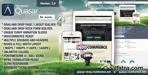 ThemeForest - Quasar v2.3 - Wordpress Theme with Animation Builder - 6126939