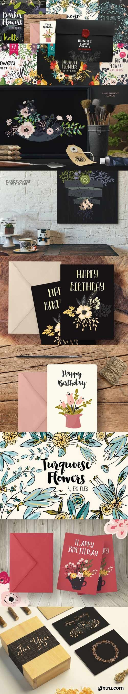 CM - Bundle Floral Cliparts 415862