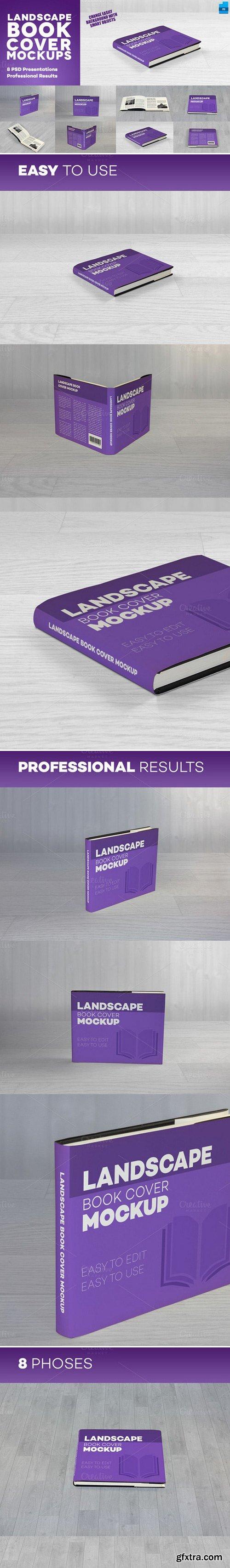 CM - Landscape Book Cover Mockups 430703