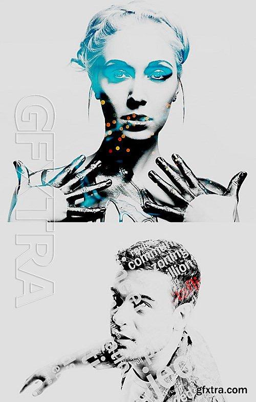 GraphicRiver - Double Exposure - Photoshop Action 13600278