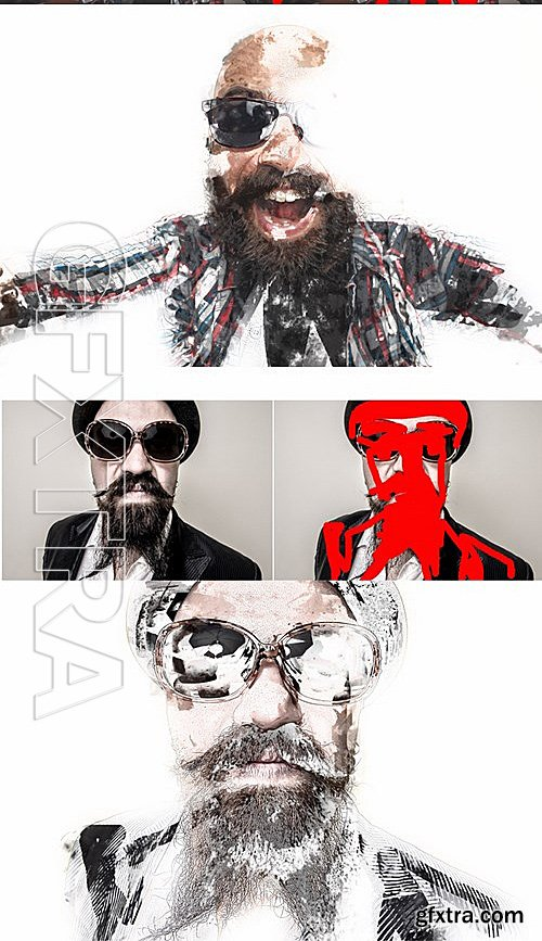GraphicRiver - Mixing Art Photoshop Action 13618074