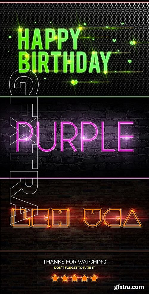 GraphicRiver - Neon Style Text Effect 13561747