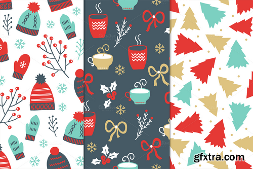 CM - 12 Christmas Seamless Patterns - 430290