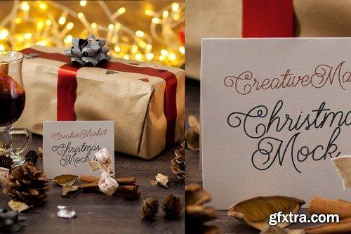 CM - 3x Christmas card mock-ups - 423958