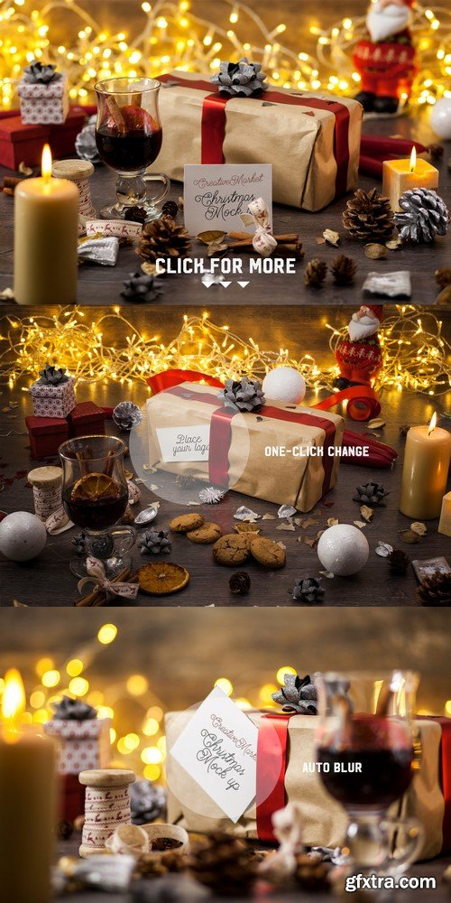 CM - 3x Christmas card mock-ups - 423958