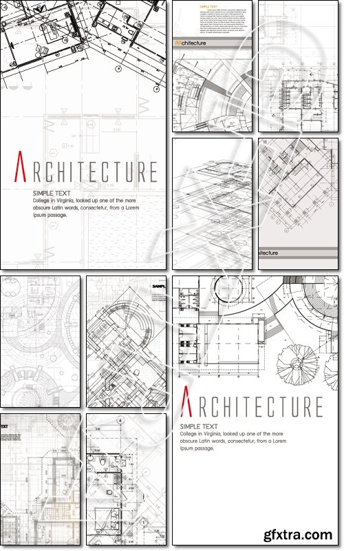 The part of architectural projec - Vector