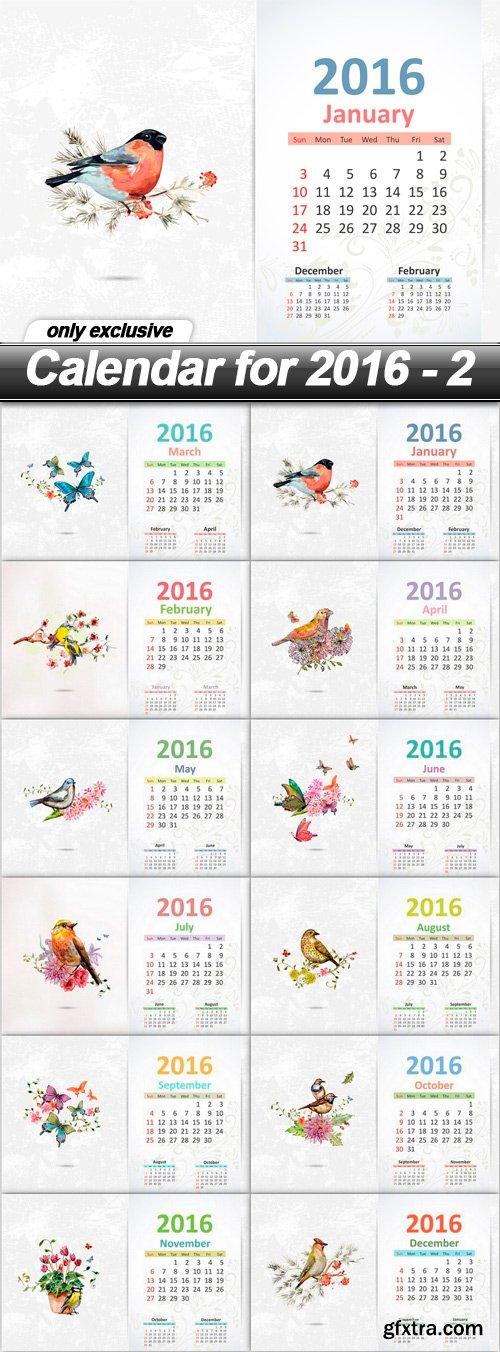 Calendar for 2016 - 2 - 12 EPS