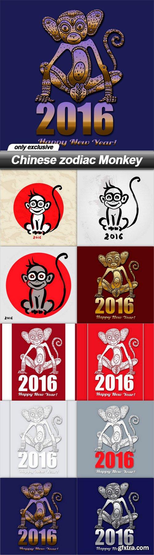 Chinese zodiac Monkey - 10 EPS