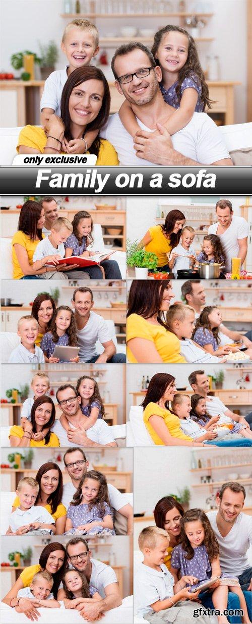Family on a sofa - 9 UHQ JPEG