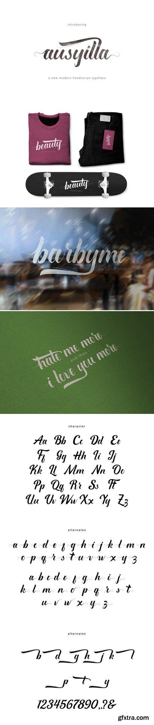CM - Ausyilla Typeface 434037