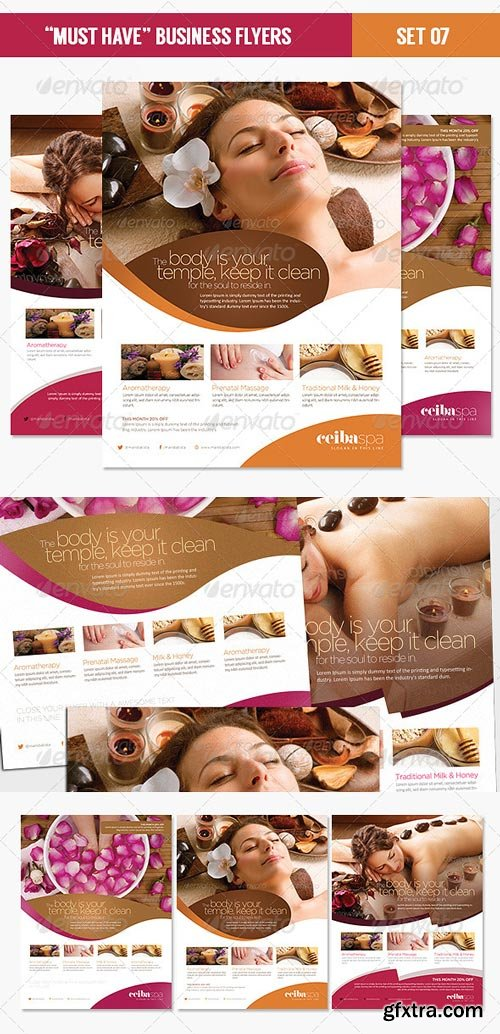 GraphicRiver - Must Have Business Flyers - Set 07 Beauty Spa - 4491466