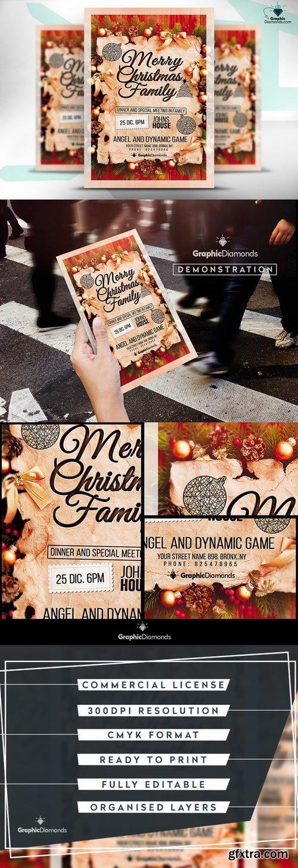 CM - Merry Christmas Family Flyer PSD 425556