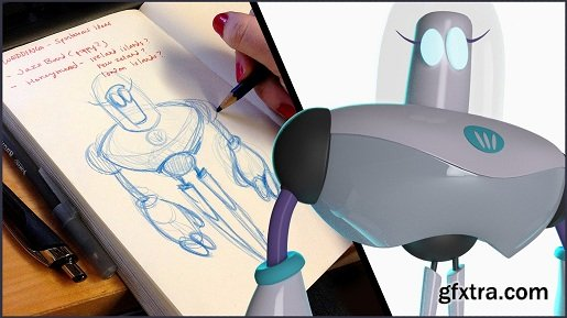 Beginner\'s 3D Modeling in Maya: Sketches Come to Life!