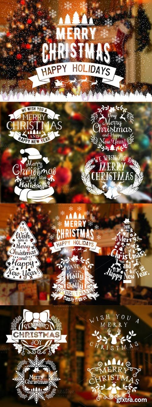 CM - 12 New Year/Christmas Labels&Badges 426975