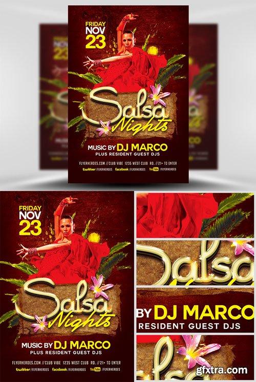 Salsa Nights Flyer Template