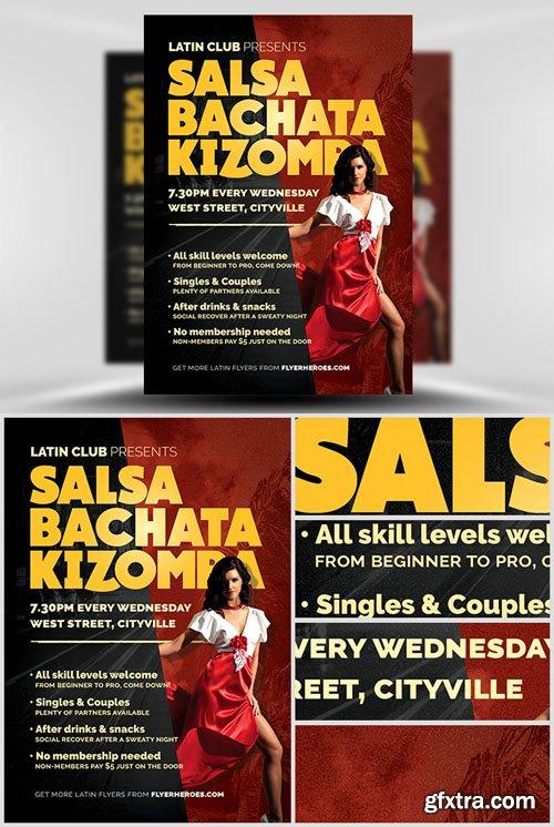 Latin Dance Night Flyer Template