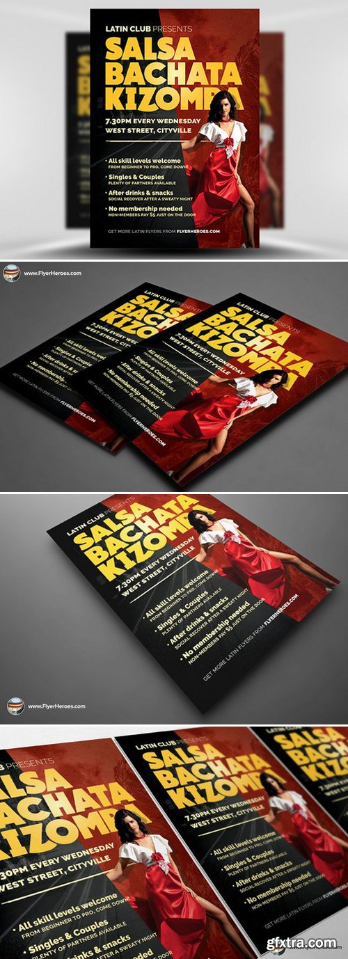 CM - Latin Dance Night Flyer Template 436692